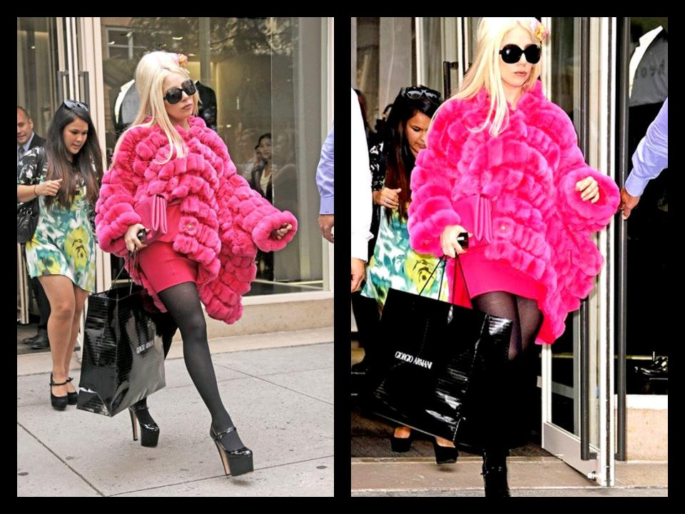 Gaga spotted shopping :