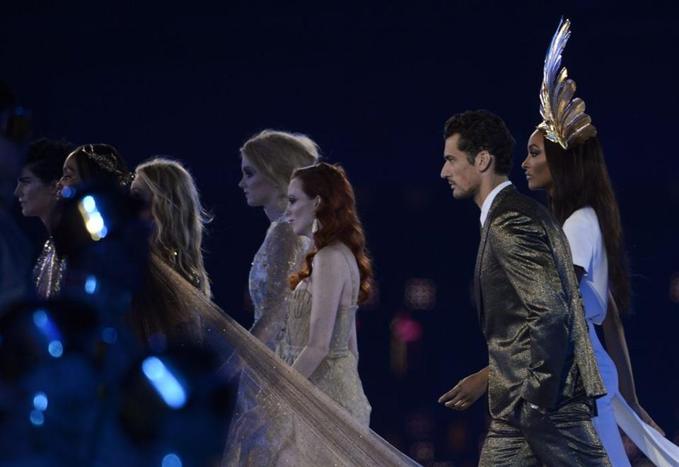 Team supermodels @ Closing Ceremony London 2012 Olympic Games :
