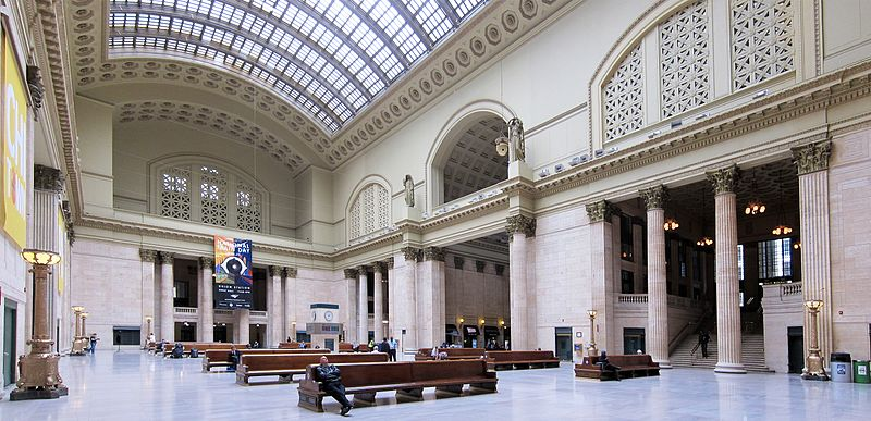 สถานีรถไฟ(Train/Railway Station/Terminal) Train Series 4 : Chicago Union Station, Chicago, USA
